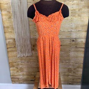 Vintage Phyllis Sues Ruffle Dress w/ Caplet
